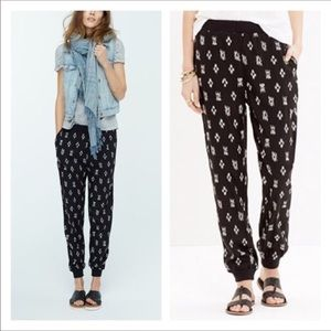 Madewell ikat joggers, size S
